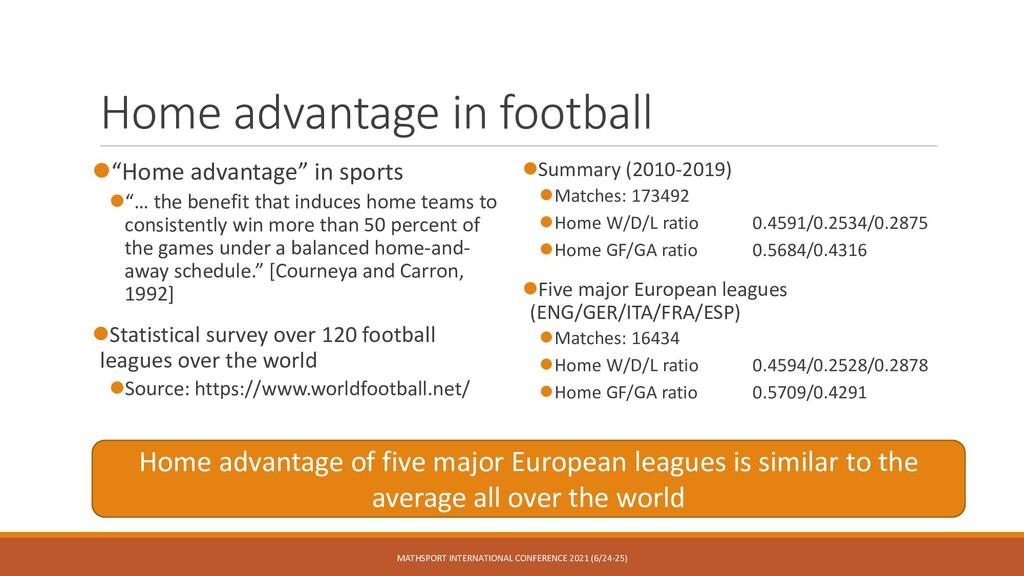 "Home advantage in football ⚫""Home advantage"" in..."