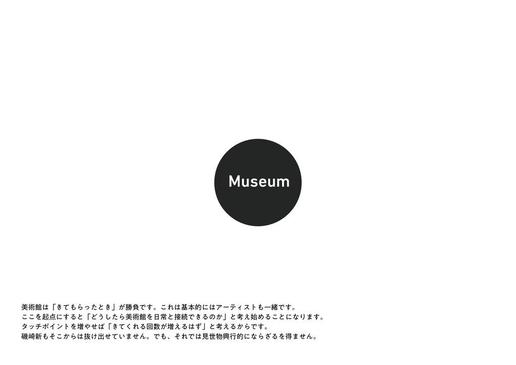 Museum ඒज़ؗʮ͖ͯΒͬͨͱ͖ʯ͕উෛͰ͢ɻ͜ΕجຊతʹΞʔςΟετҰॹͰ͢ɻ...