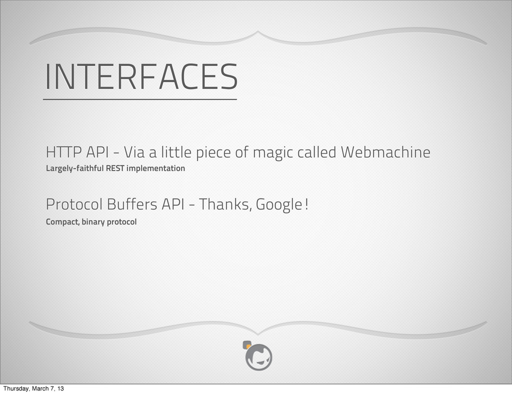 INTERFACES HTTP API - Via a little piece of mag...