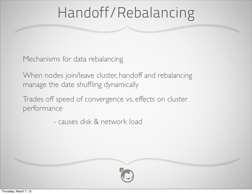 Handoff/Rebalancing Mechanisms for data rebalan...
