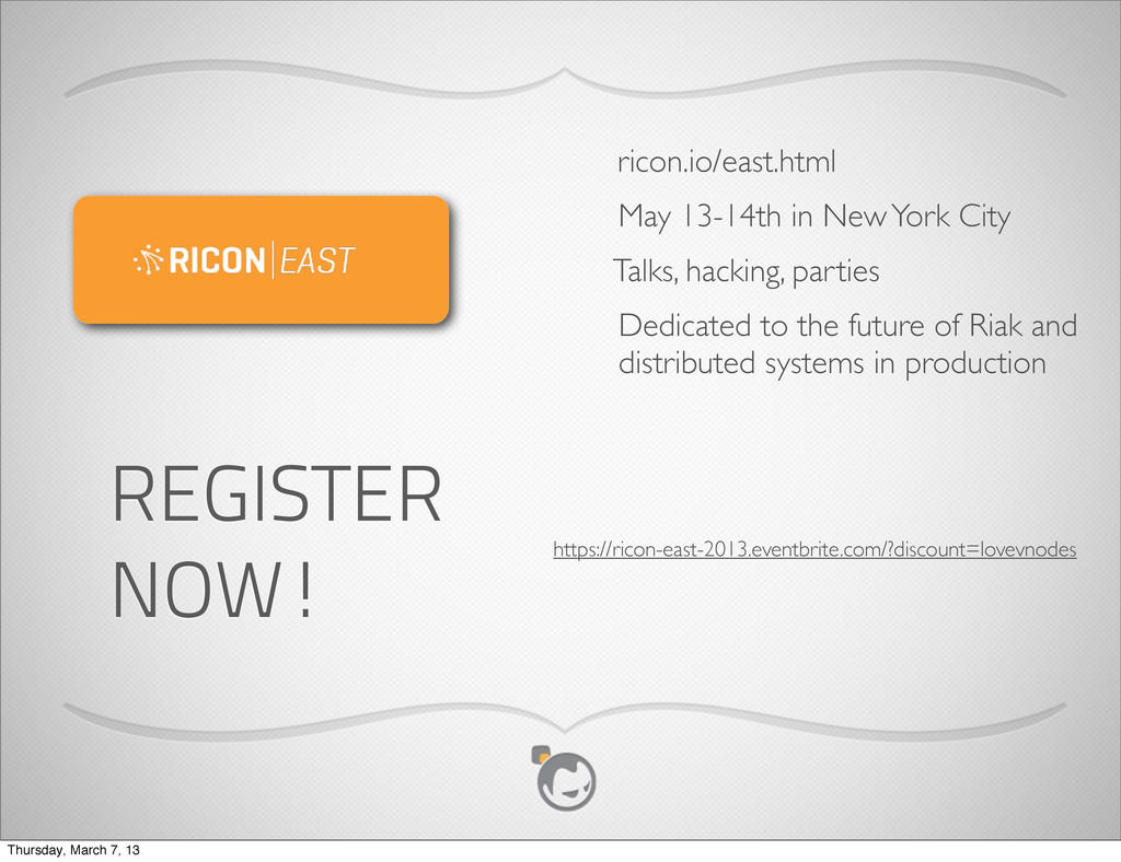 May 13-14th in New York City ricon.io/east.html...