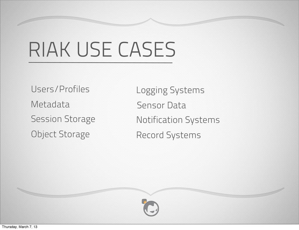 Metadata Users/Profiles Object Storage Session ...