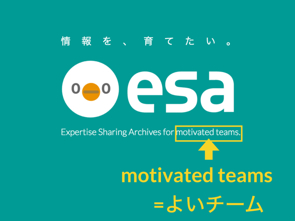 motivated teams =Α͍νʔϜ