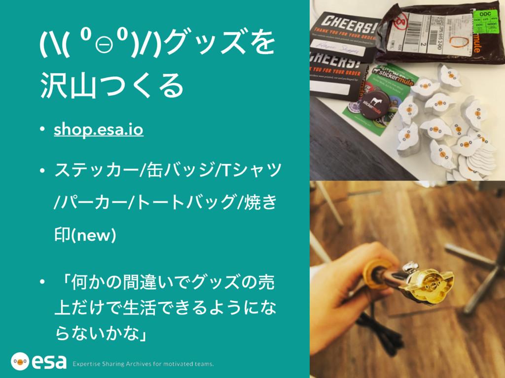(\( ⁰⊖⁰)/)άοζΛ ͭ͘Δ • shop.esa.io • εςοΧʔ/؈όοδ...