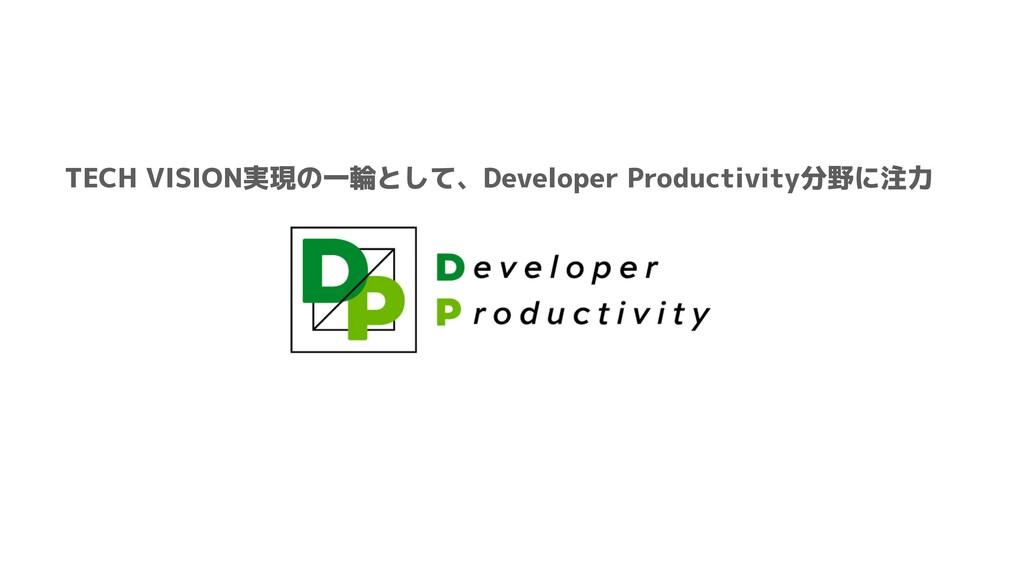 TECH VISION実現の一輪として、Developer Productivity分野に注力