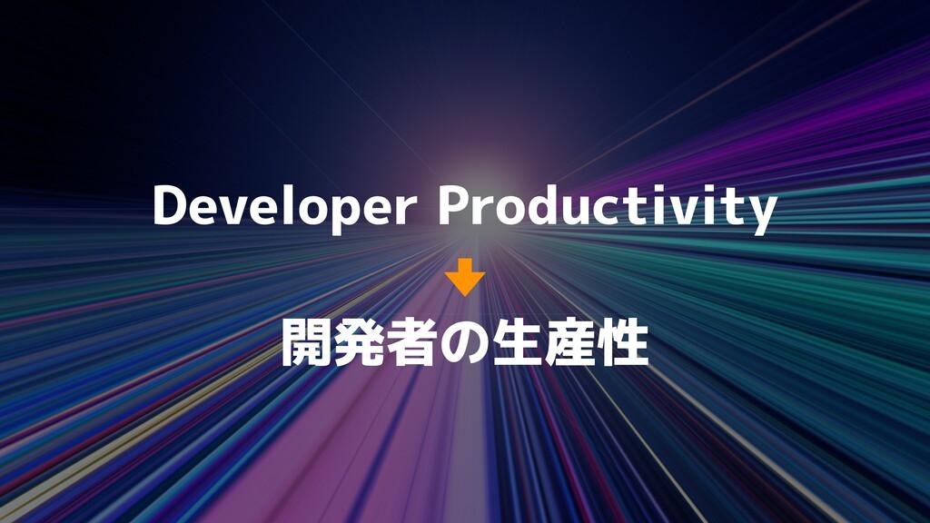 Developer Productivity 開発者の生産性