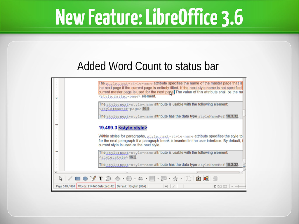 New Feature: LibreOffice 3.6 Added Word Count t...