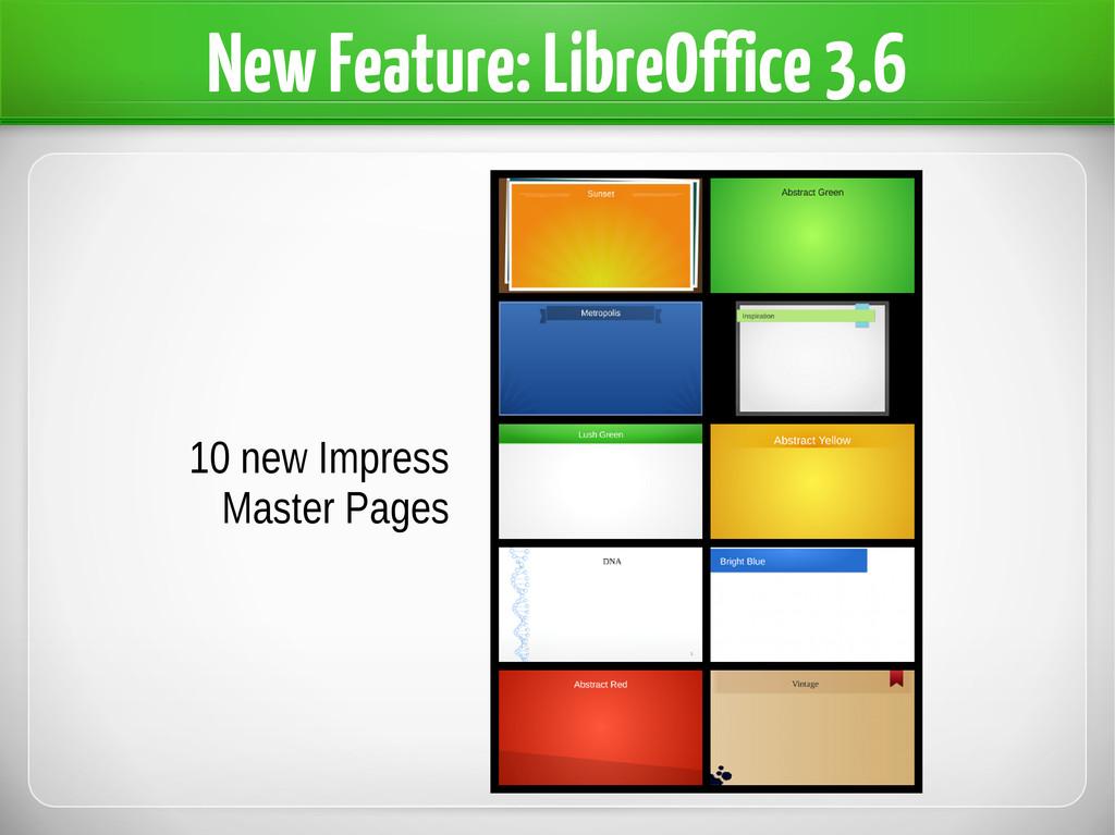 New Feature: LibreOffice 3.6 10 new Impress Mas...