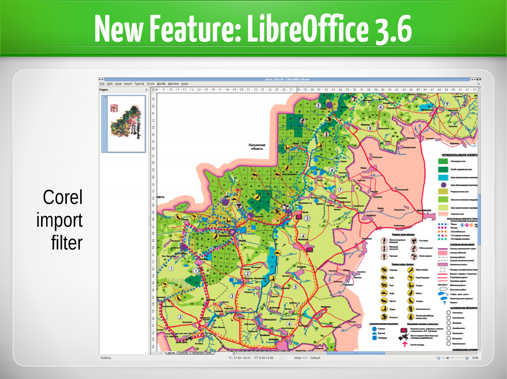 New Feature: LibreOffice 3.6 Corel import filter