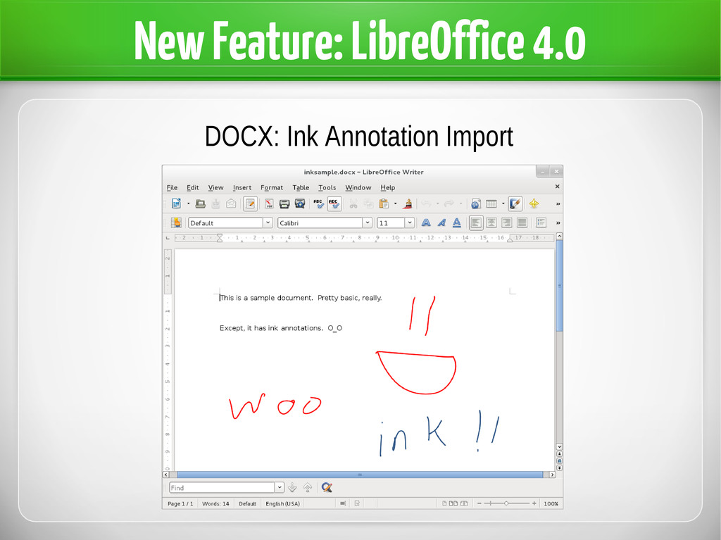New Feature: LibreOffice 4.0 DOCX: Ink Annotati...