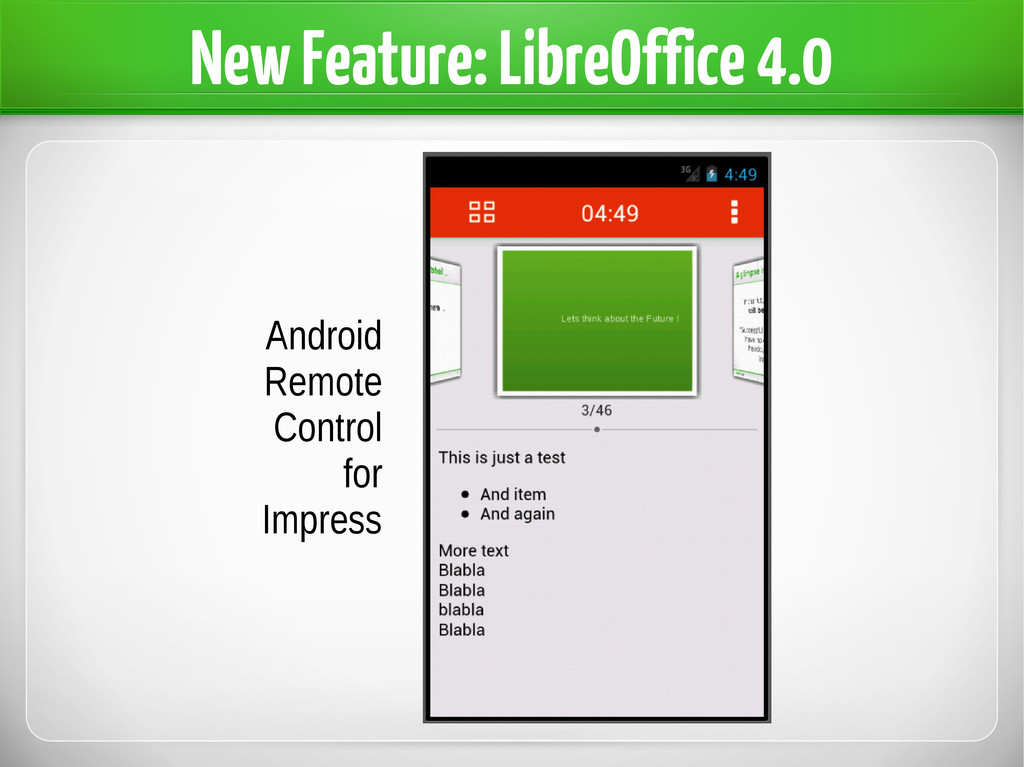 New Feature: LibreOffice 4.0 Android Remote Con...