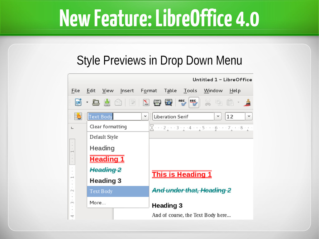 New Feature: LibreOffice 4.0 Style Previews in ...