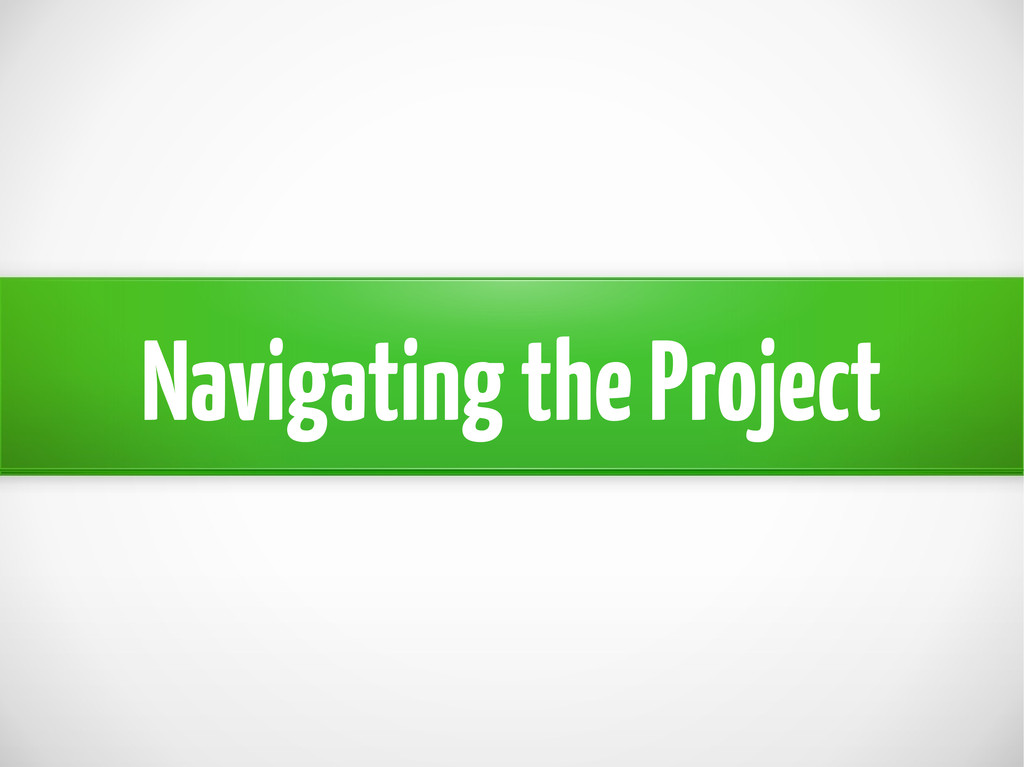 Navigating the Project