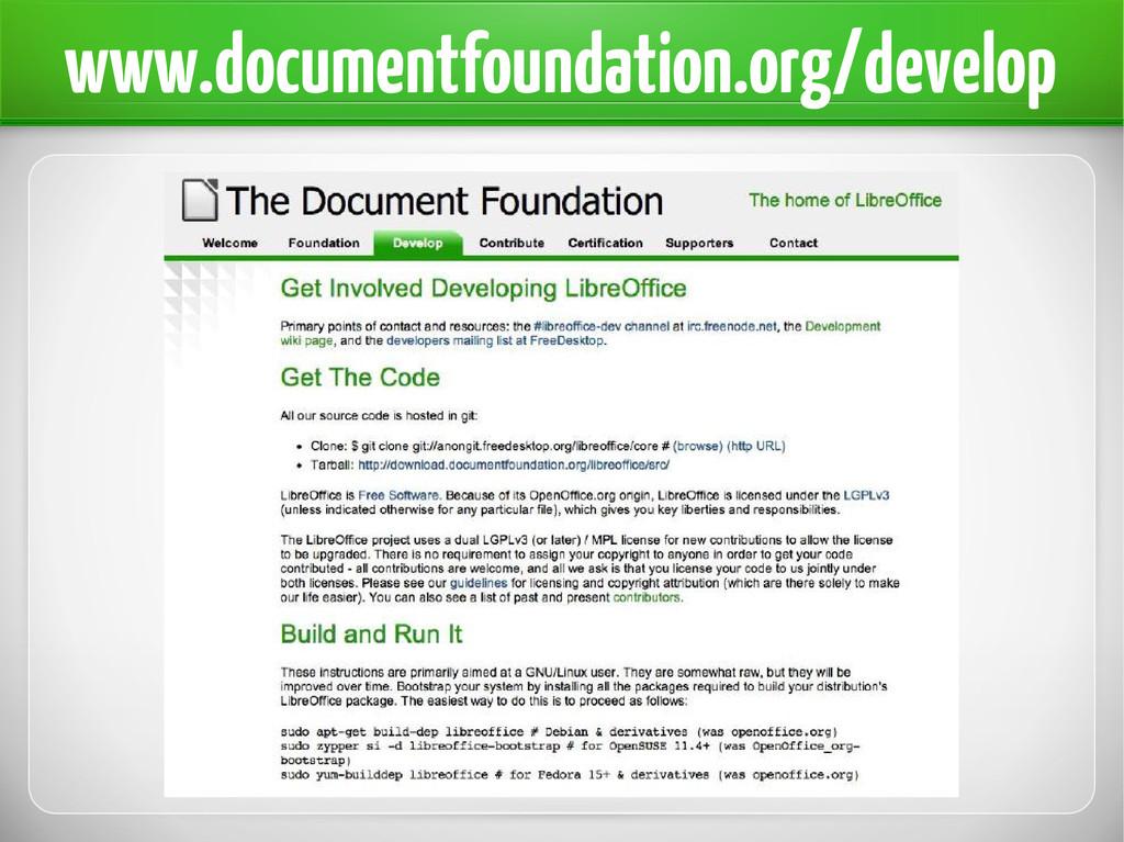 www.documentfoundation.org/develop