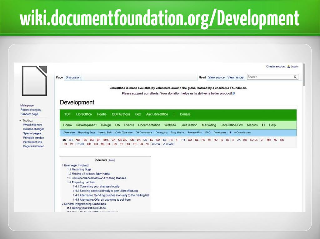 wiki.documentfoundation.org/Development