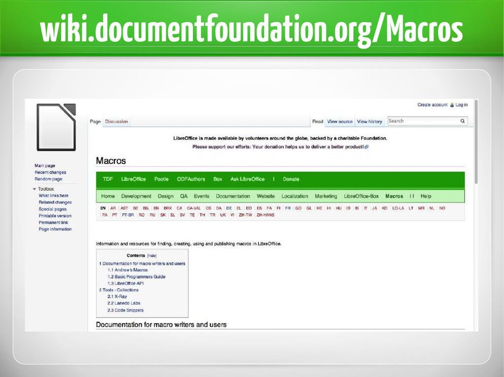 wiki.documentfoundation.org/Macros
