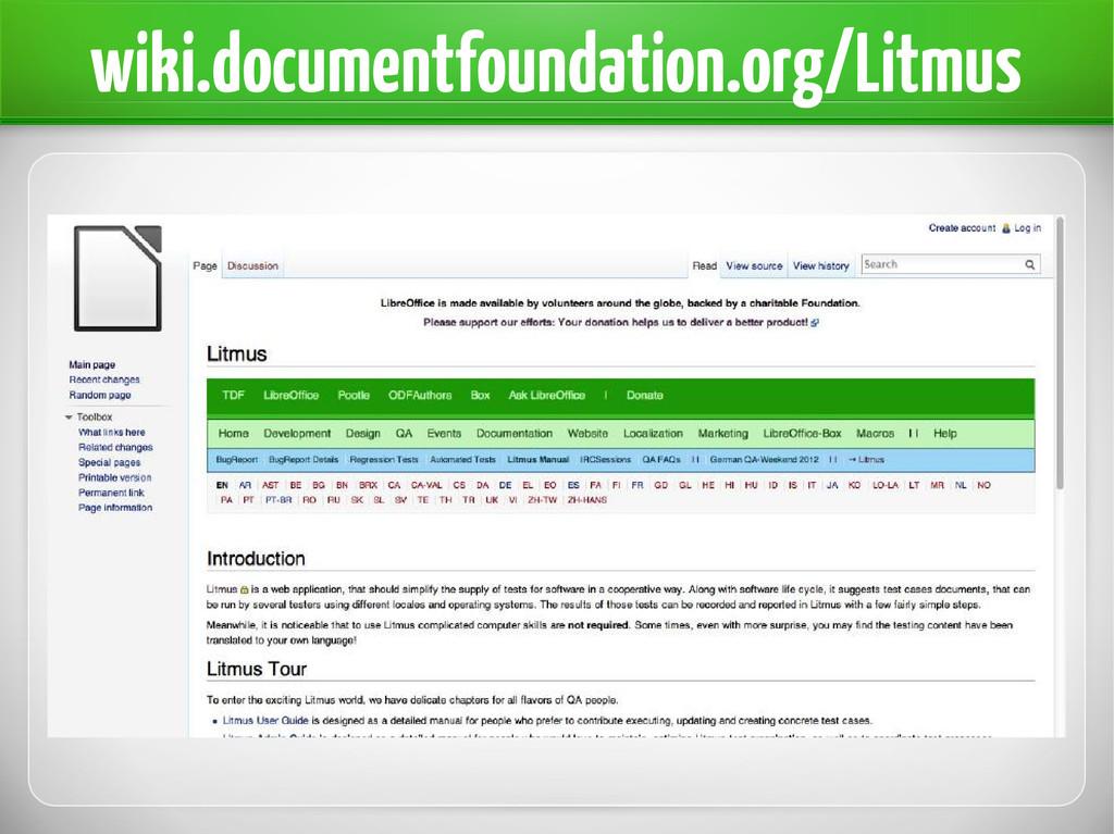 wiki.documentfoundation.org/Litmus