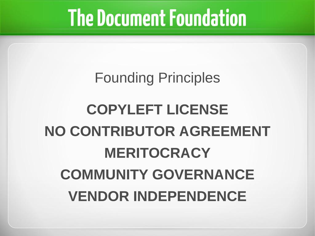 Founding Principles COPYLEFT LICENSE NO CONTRIB...
