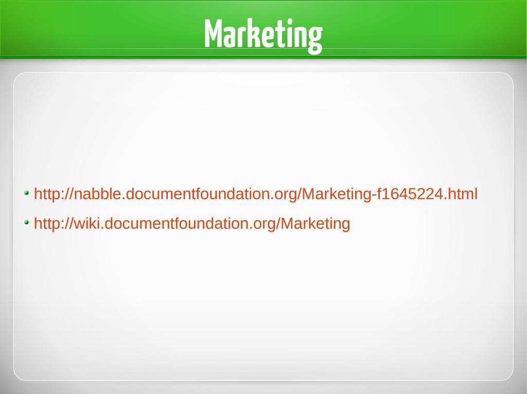 Marketing http://nabble.documentfoundation.org/...