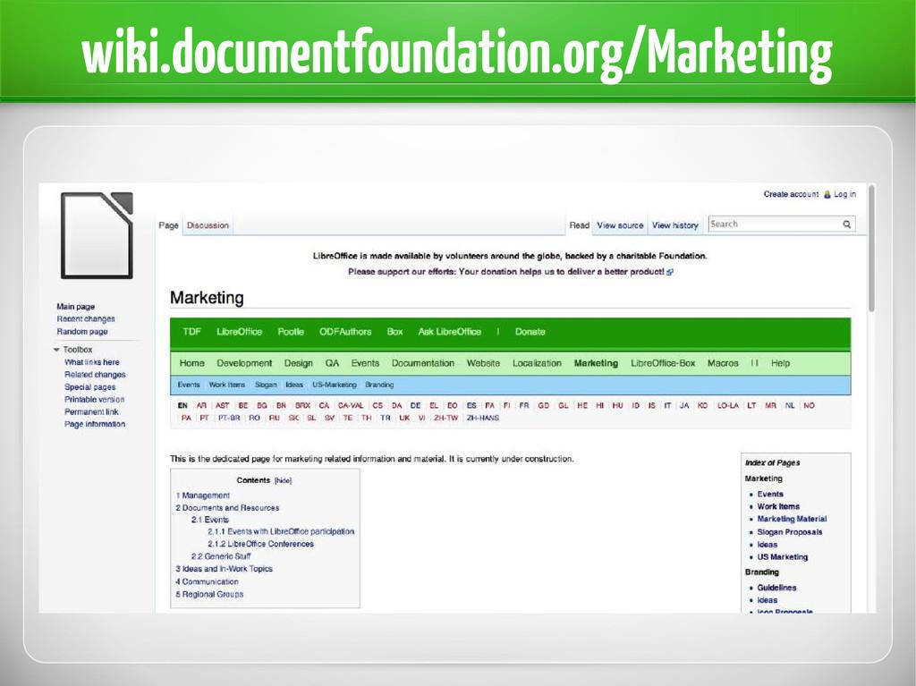 wiki.documentfoundation.org/Marketing