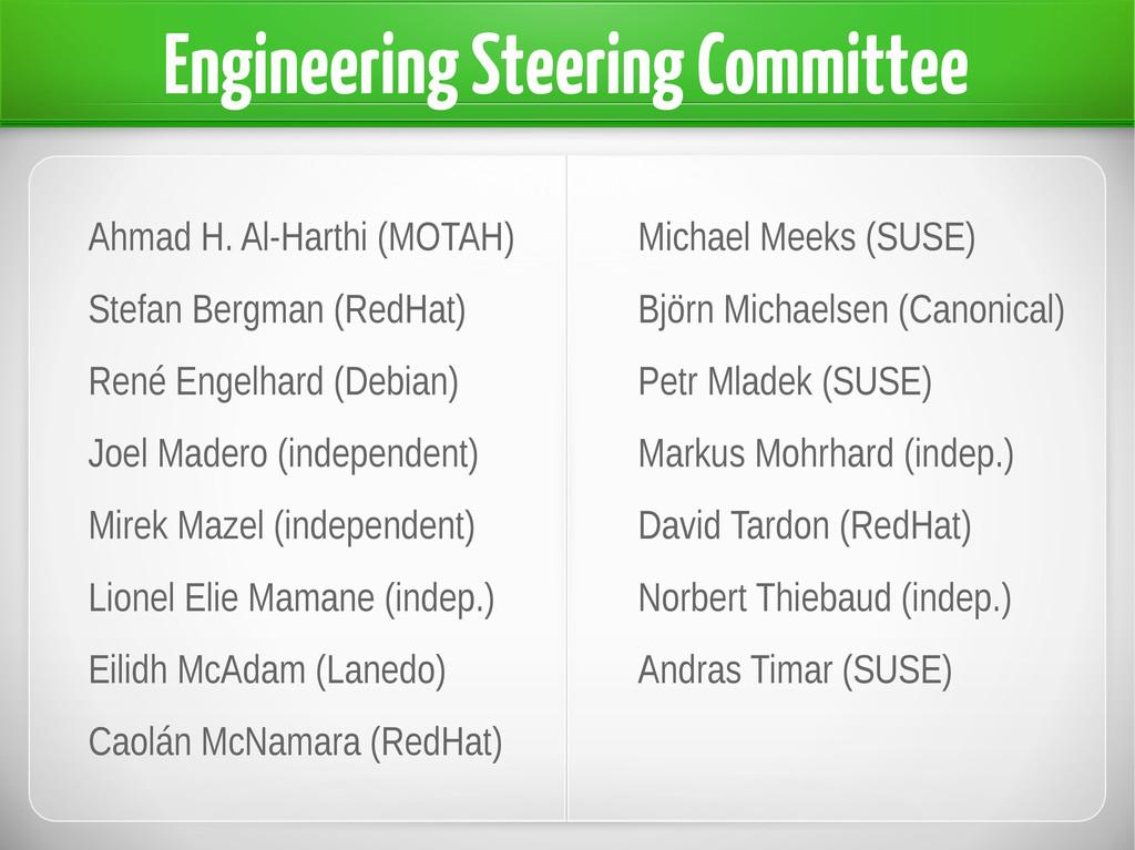 Engineering Steering Committee Ahmad H. Al-Hart...