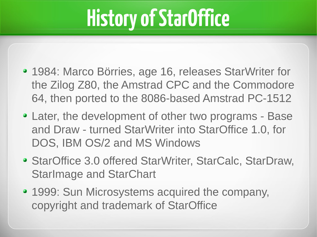 History of StarOffice 1984: Marco Börries, age ...