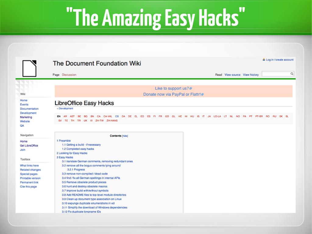"""""""The Amazing Easy Hacks"""""""