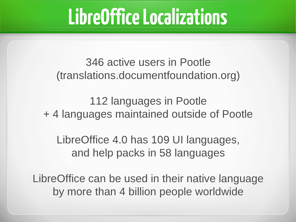 346 active users in Pootle (translations.docume...