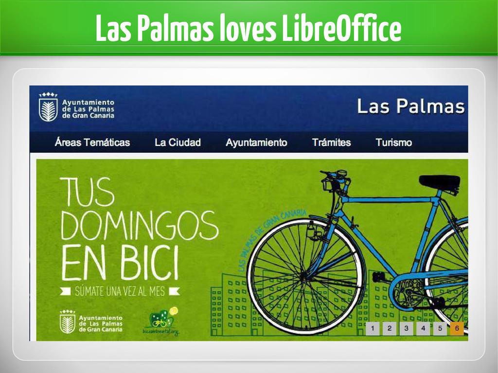 Las Palmas loves LibreOffice
