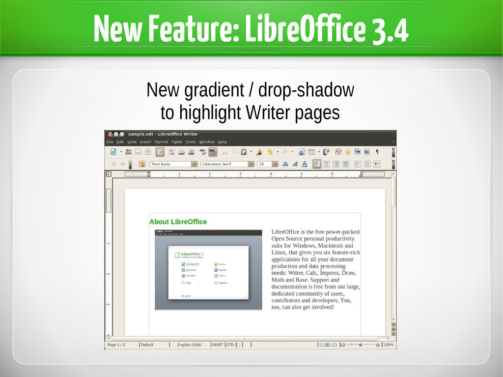 New Feature: LibreOffice 3.4 New gradient / dro...