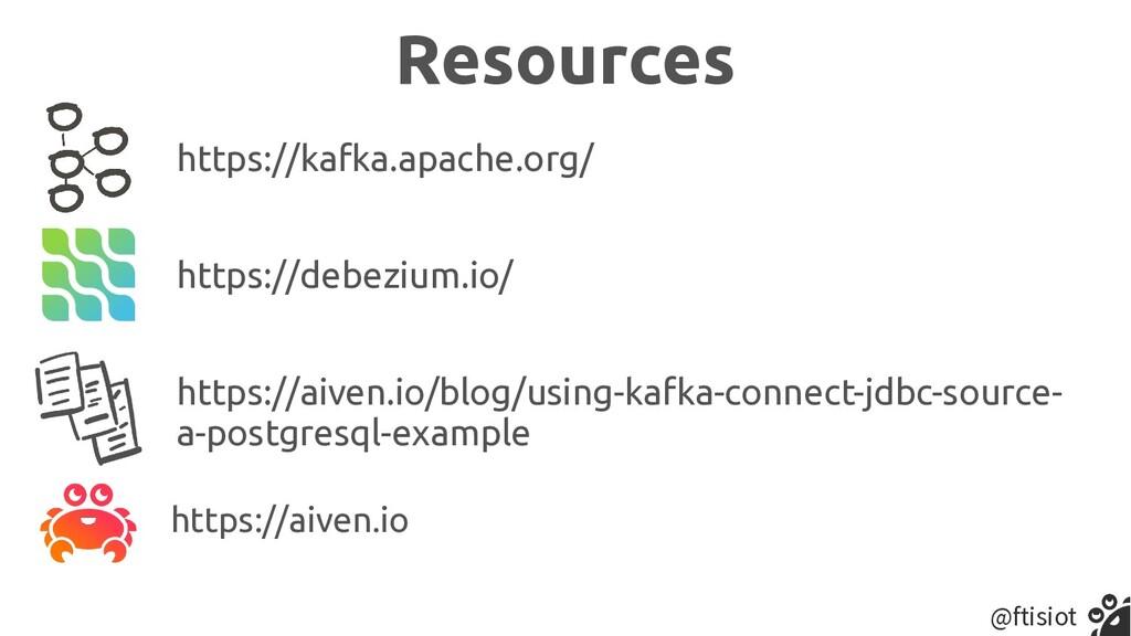 @ftisiot Resources https://aiven.io https://deb...