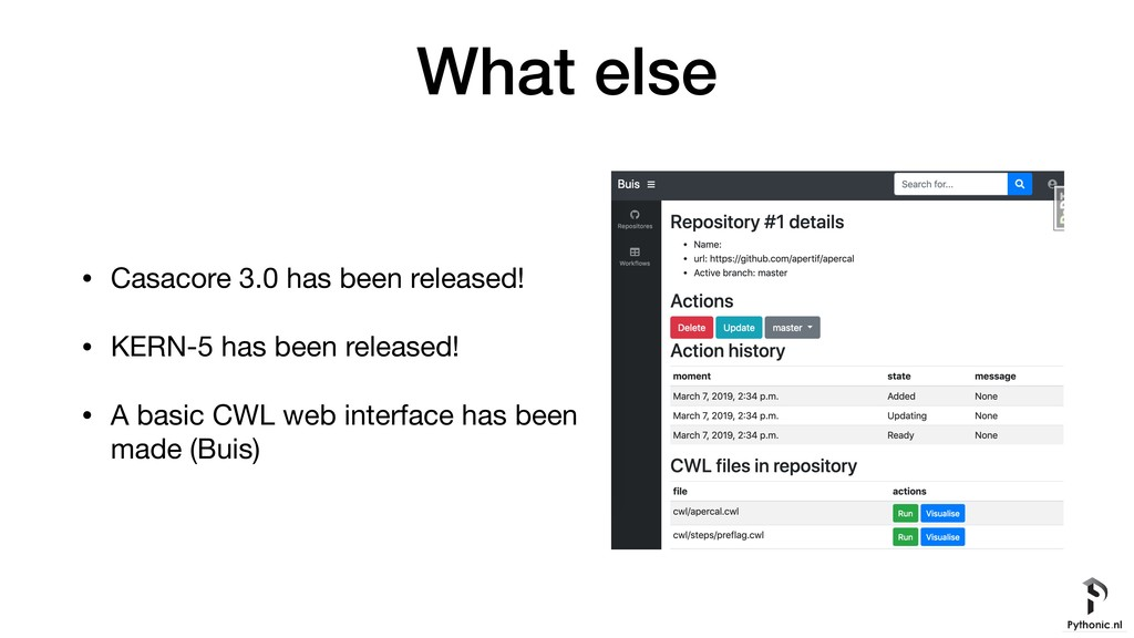 What else • Casacore 3.0 has been released!  • ...