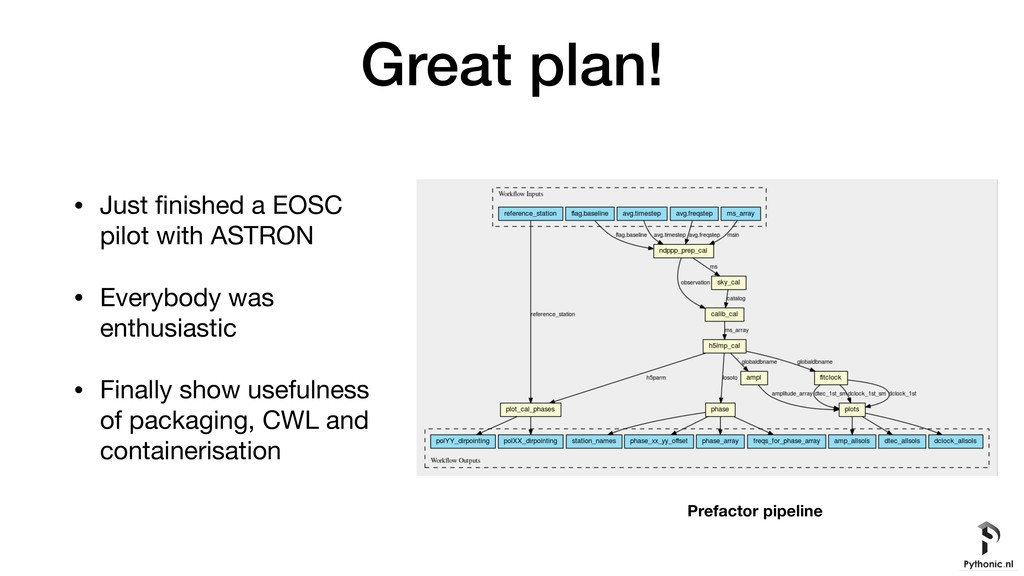 Great plan! • Just finished a EOSC pilot with AS...
