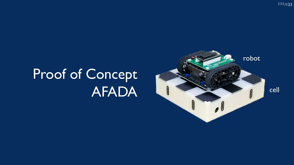 /123 111 Proof of Concept AFADA robot cell