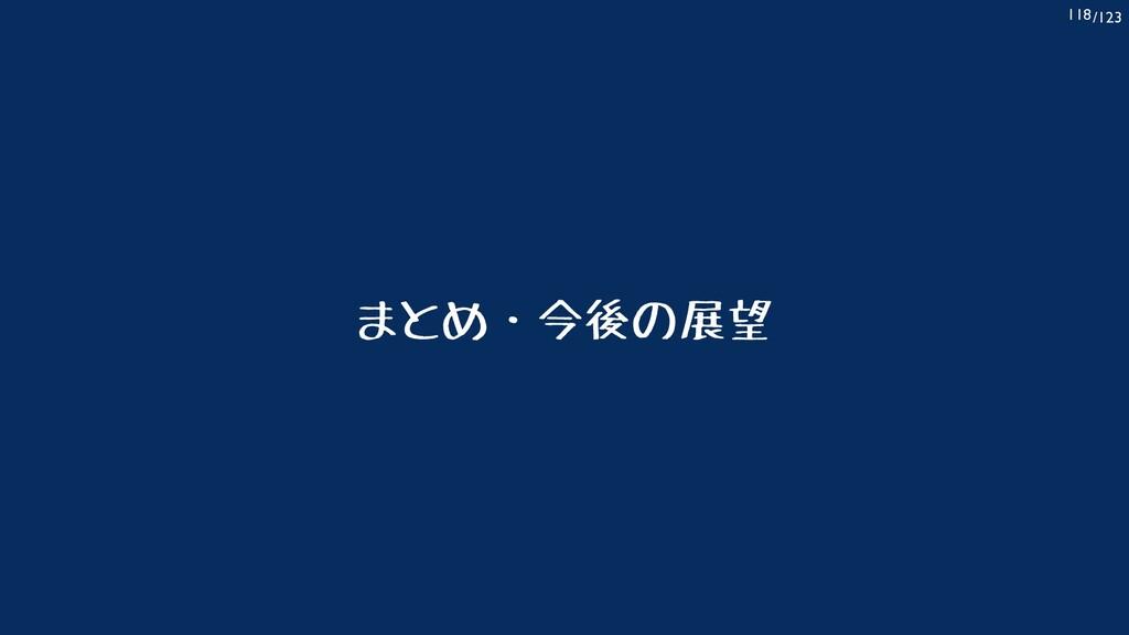 /123 118 まとめ・今後の展望