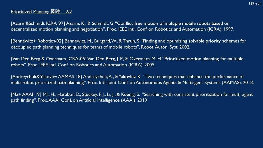 /123 129 Prioritized Planning 関連 – 2/2 [Azarm&S...