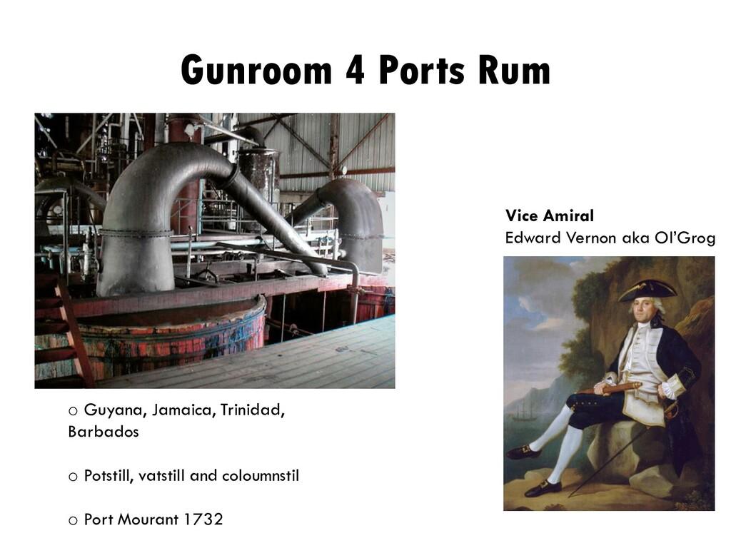 Gunroom 4 Ports Rum o Guyana, Jamaica, Trinidad...