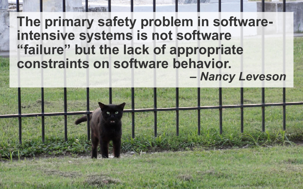 The primary safety problem in software- intensi...