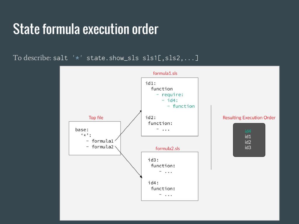 State formula execution order To describe: salt...