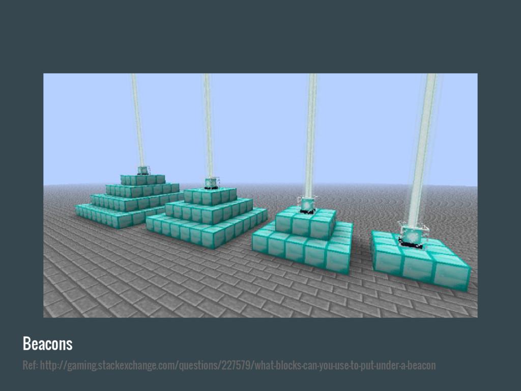 Beacons Ref: http://gaming.stackexchange.com/qu...