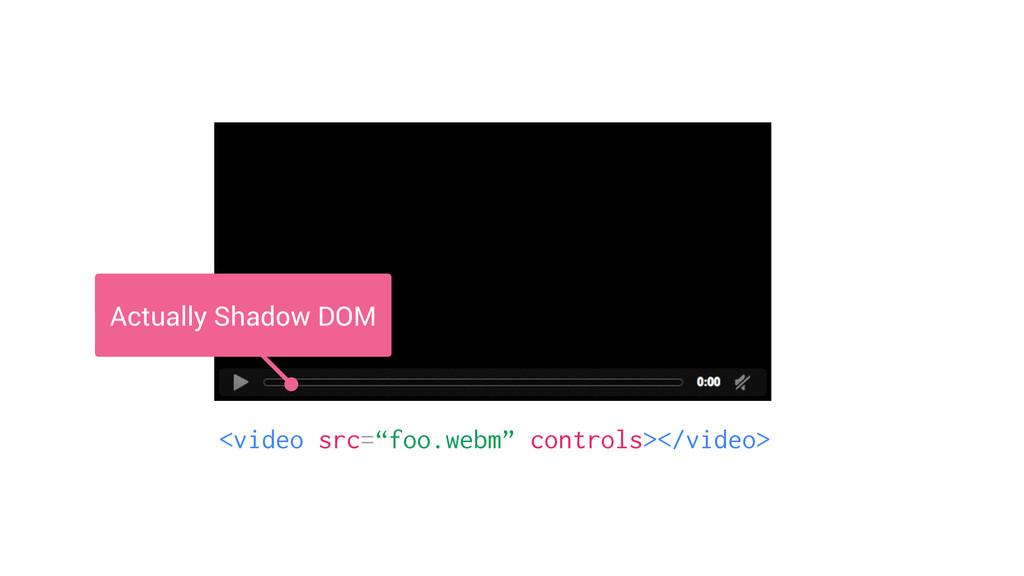"""<video src=""""foo.webm"""" controls></video> Actuall..."""
