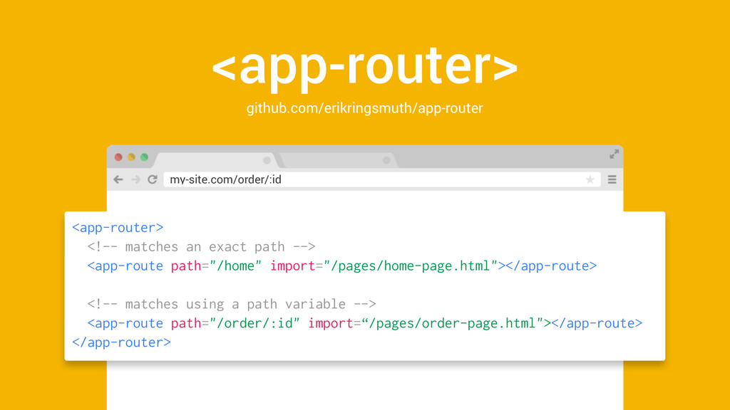 <app-router> github.com/erikringsmuth/app-route...