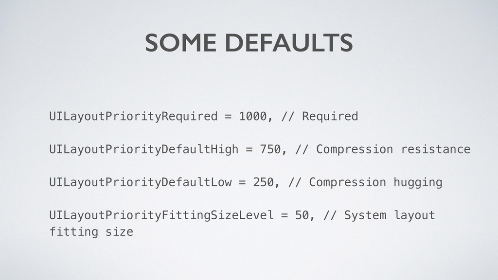 UILayoutPriorityRequired = 1000, // Required UI...