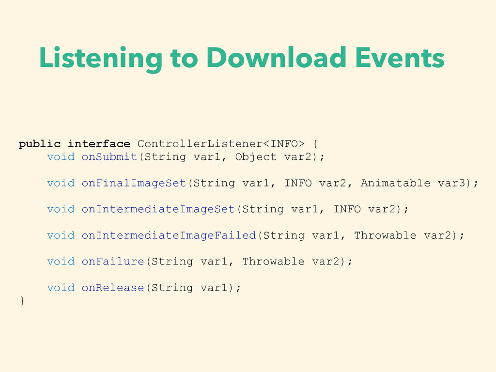 Listening to Download Events public interface C...
