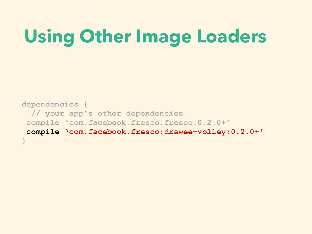 Using Other Image Loaders public interface Post...