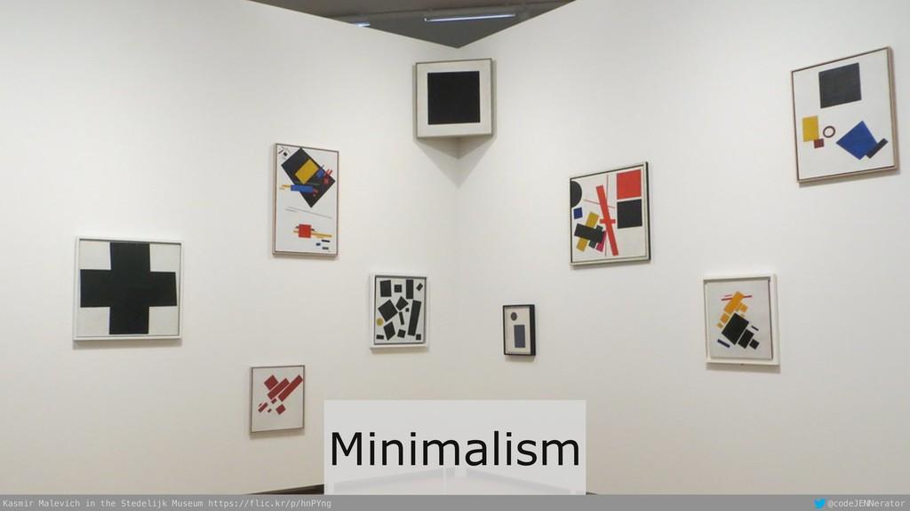 @codeJENNerator Minimalism Kasmir Malevich in t...