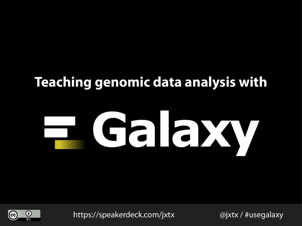 Teaching genomic data analysis with @jxtx / #us...