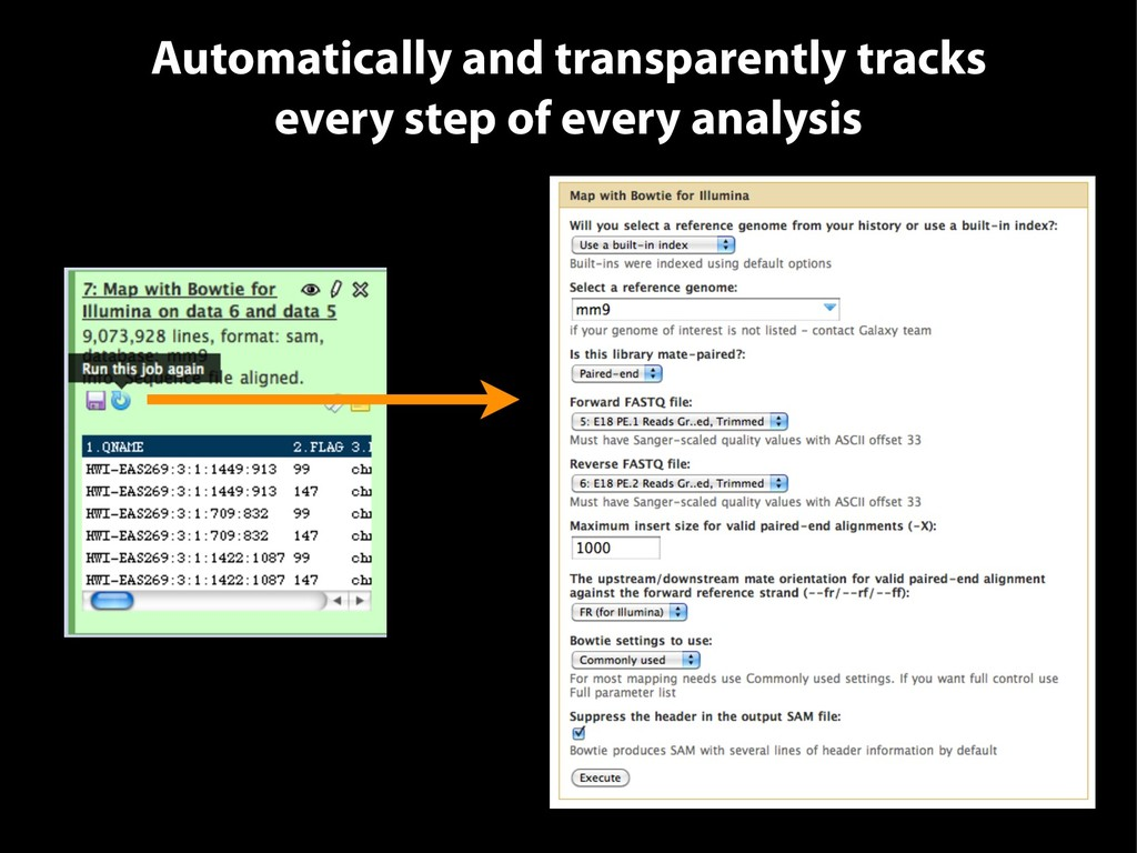 Automatically and transparently tracks every st...