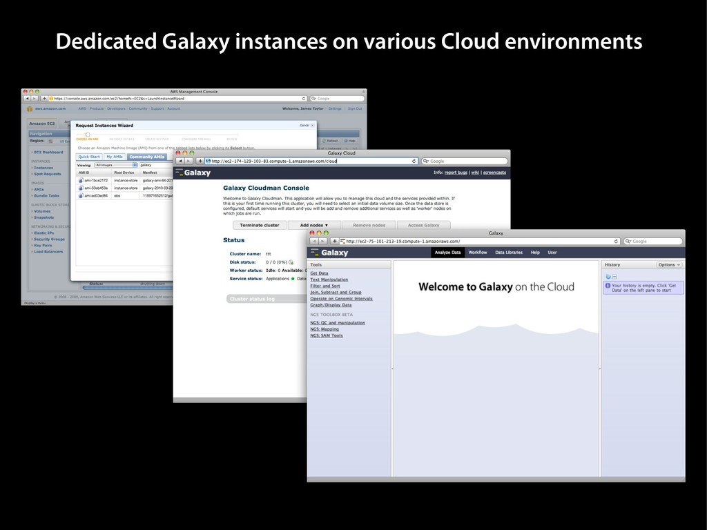 Dedicated Galaxy instances on various Cloud env...