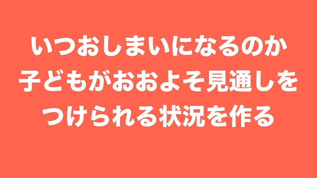 ͍͓ͭ͠·͍ʹͳΔͷ͔ ࢠͲ͕͓͓Αͦݟ௨͠Λ ͚ͭΒΕΔঢ়گΛ࡞Δ